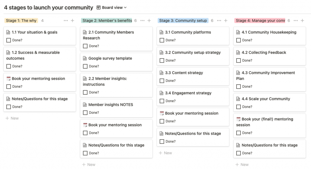 4 stages to launch your community