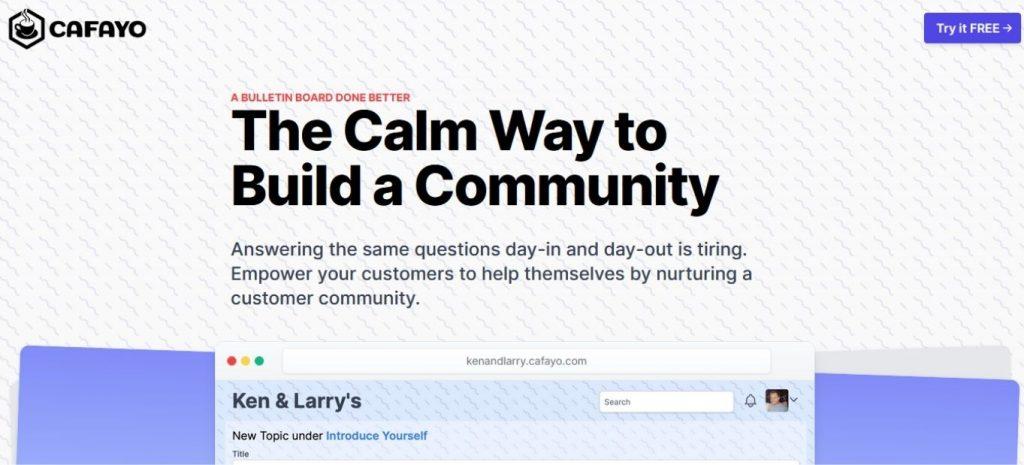 No-code or low-code tools cafayo.com homepage No-code or low-code tools